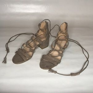 Madden Girl Lace Up Sandals Size 6.5